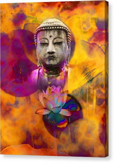 Serenely Awakened One Canvas Print by Bruce Manaka