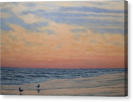 Serenity - Dusk At The Shore Canvas Print