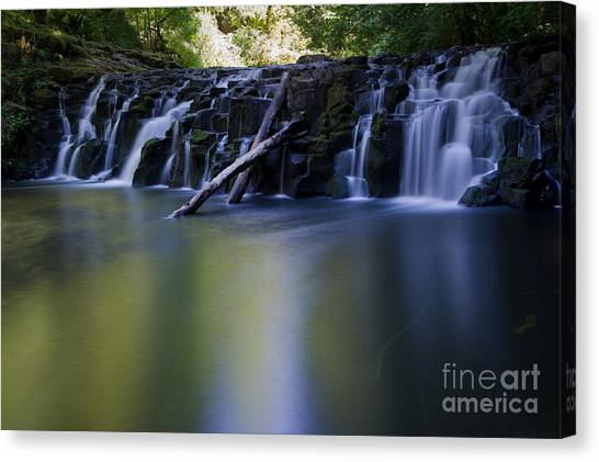 Serenity Falls Canvas Print by Jackie Follett