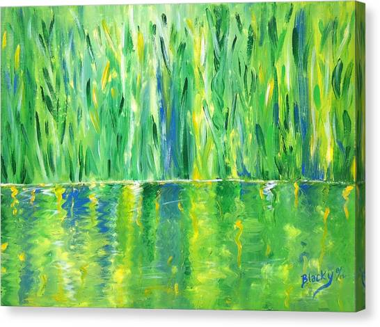 Serenity In Green Canvas Print