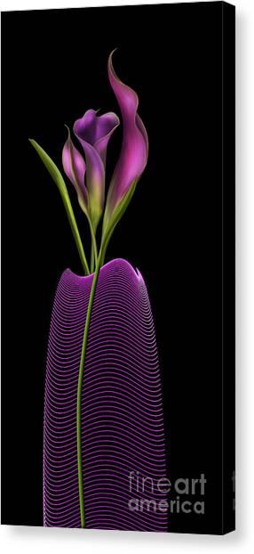 Serenity In Purple Canvas Print