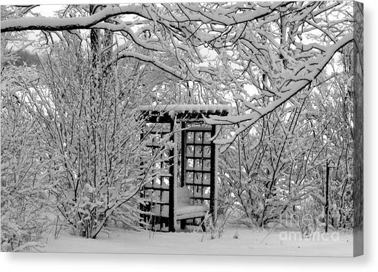 Serenity In Snow Canvas Print