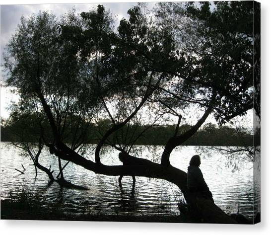 Serenity On The River Canvas Print