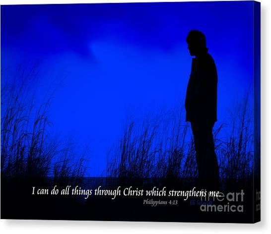 Serenity - Philippians 4 Canvas Print
