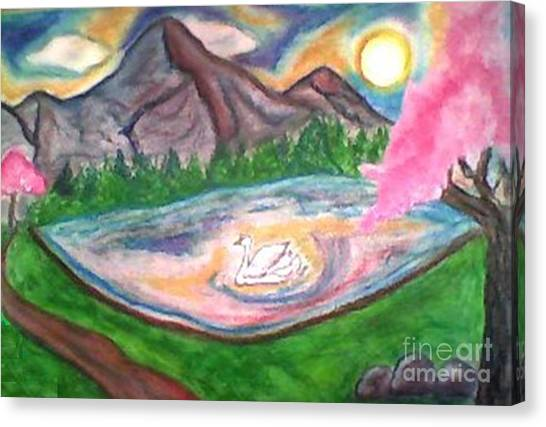 Serenity Pond Canvas Print by Lewanda Laboy