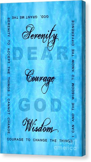Serenity Prayer Dear God Canvas Print