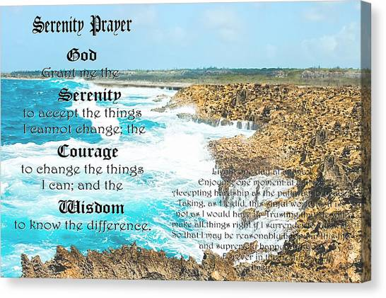 Serenity Prayer For Turbulent Times Canvas Print
