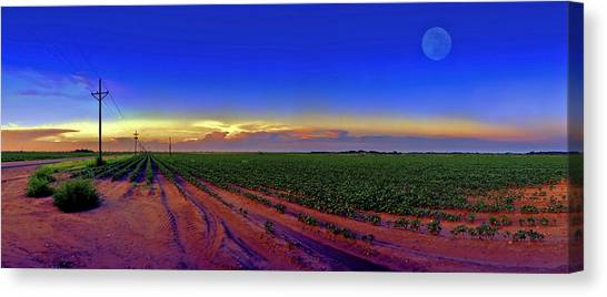 Sunset Canvas Print - Serenity by Robert Hudnall