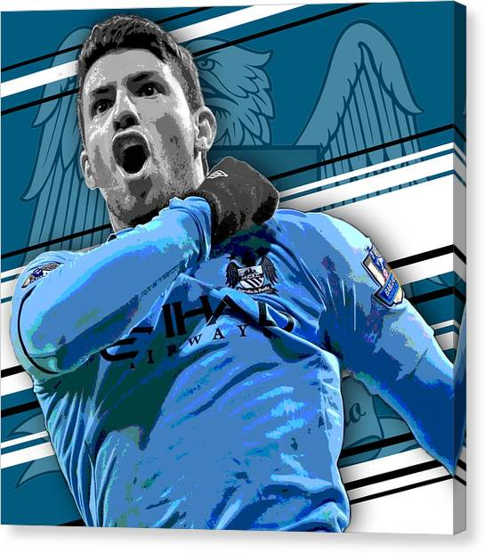 Soccer Canvas Print - Sergio Aguero Manchester City Print by Pro Prints