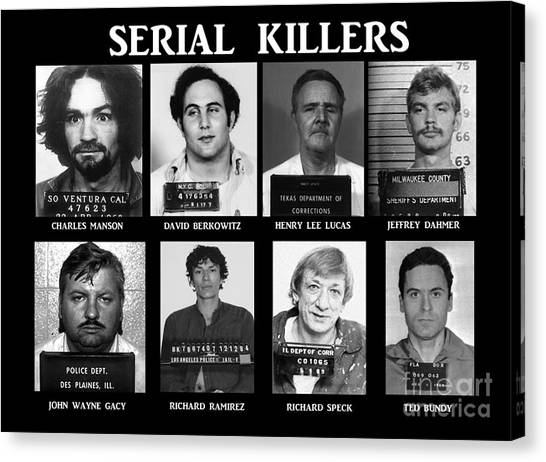 Ted Bundy Canvas Print - Serial Killers - Public Enemies by Paul Ward