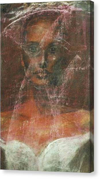 Serious Bride Mirage  Canvas Print