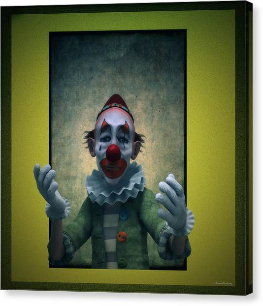 Clown Art Canvas Print - Serious Discourse by Ramon Martinez