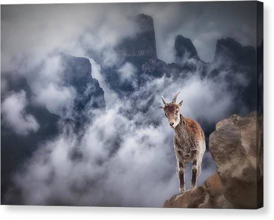 Sesmien Mountains Canvas Print by Marc Apers