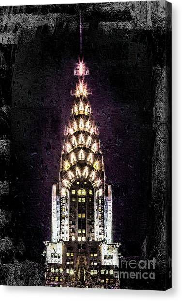 Chrysler Building Canvas Print - Set In Stone by Az Jackson