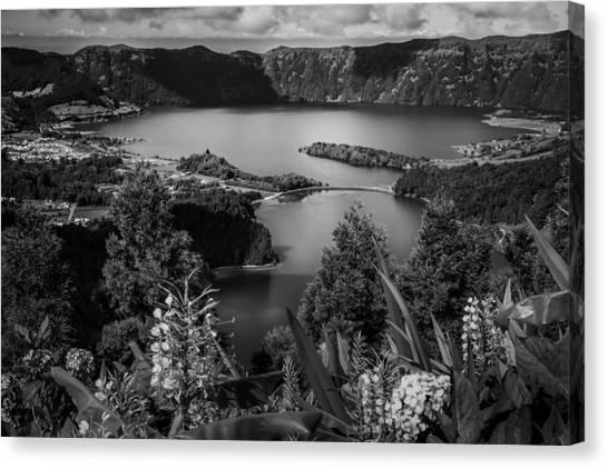 Sete Cidades Lake Canvas Print