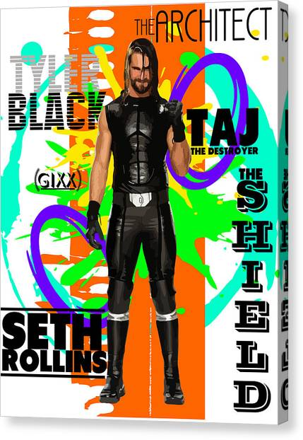 Wwe Canvas Print - Seth Rollins by Anibal Diaz