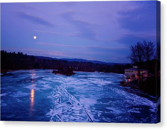 Setting Moon Brattleboro Canvas Print