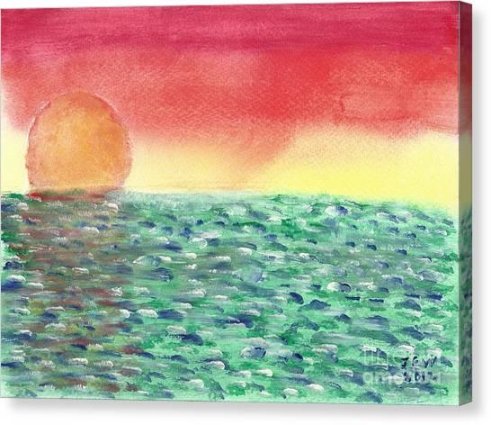 Setting Sea Canvas Print