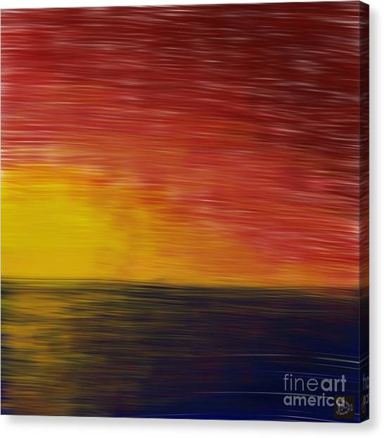 Setting Sun Canvas Print