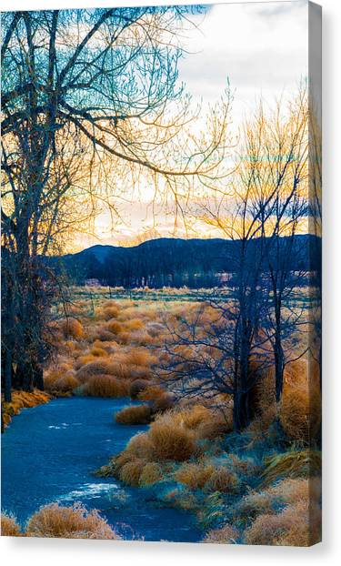 Setting Sun At Rocky Mountain Arsenal_2 Canvas Print