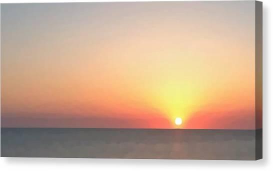 Setting Sun  Canvas Print by Phil Gorham