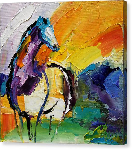 Canvas Print - Settled In Horse 5 2014 by Laurie Pace