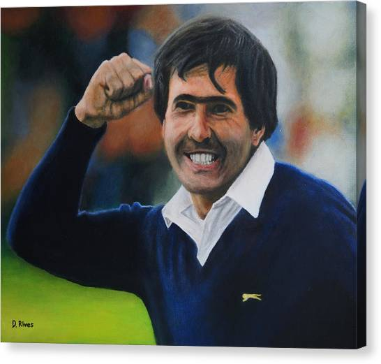 Seve Ballesteros Oil On Canvas Canvas Print