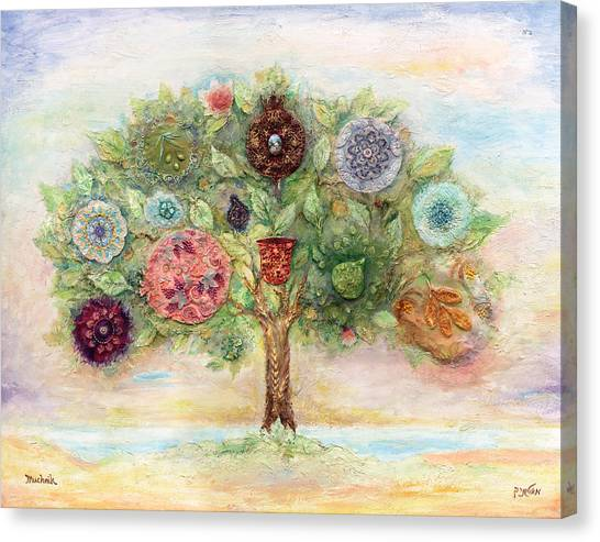 Judaism Canvas Print - Seven Fruits by Michoel Muchnik