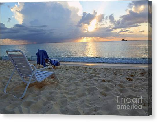 Sunset On Seven Mile Beach Canvas Print