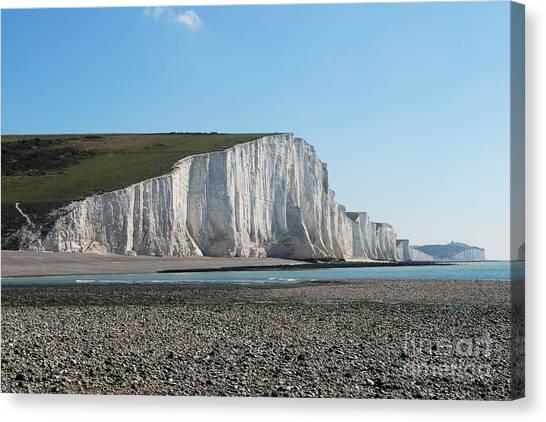 Seven Sisters Chalk Cliffs Canvas Print