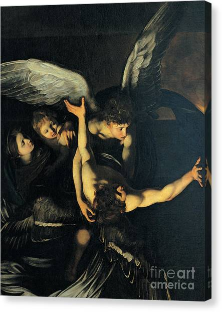 Baroque Art Canvas Print - Seven Works Of Mercy by Caravaggio