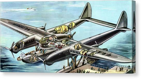 Seaplanes Canvas Print - Seversky Super Clipper by Cci Archives