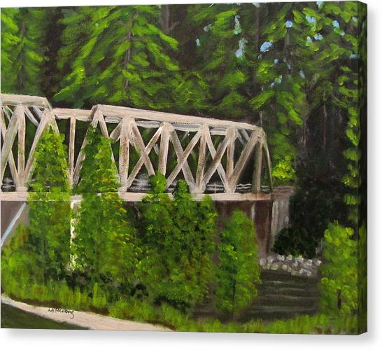 Sewalls Falls Bridge Canvas Print