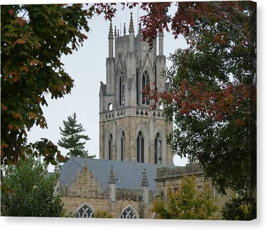 The University Of Tennessee Canvas Print - Sewanee Chapel by Ron Hayes