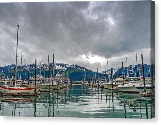 Seward Harbour Alaska Canvas Print