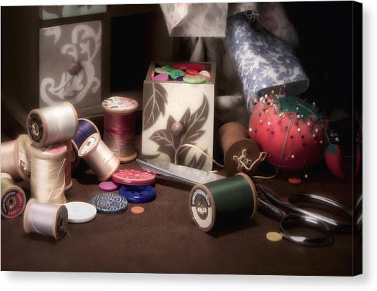 Sewing Canvas Print - Sewing Notions II by Tom Mc Nemar