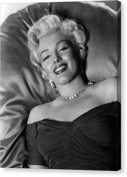 Monroe Canvas Print - Sexy Marilyn Monroe by Retro Images Archive