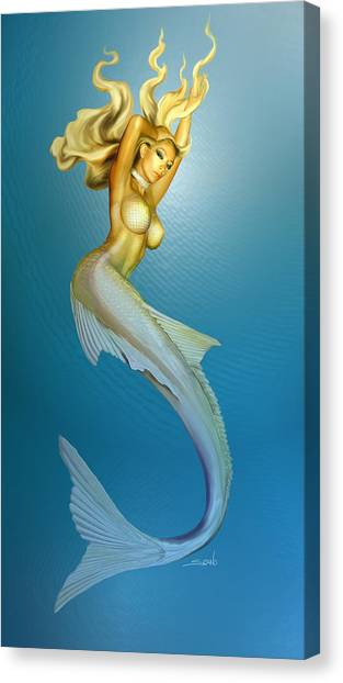 Sexy Mermaid By Spano Canvas Print