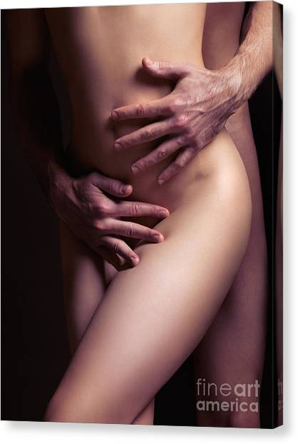 Love Making Canvas Print - Sexy Nude Couple Embracing by Oleksiy Maksymenko