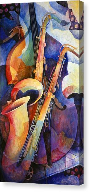 Iphone Case Canvas Print - Sexy Sax by Susanne Clark