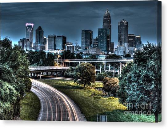 Sexy Skyline Of Charlotte  Canvas Print