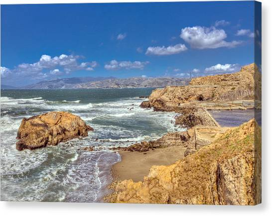 Sf Beach In Hdr Canvas Print