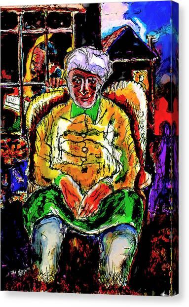 Shabbos In Odessa Canvas Print