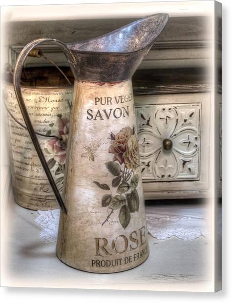 Shabby Chic Vase Canvas Print