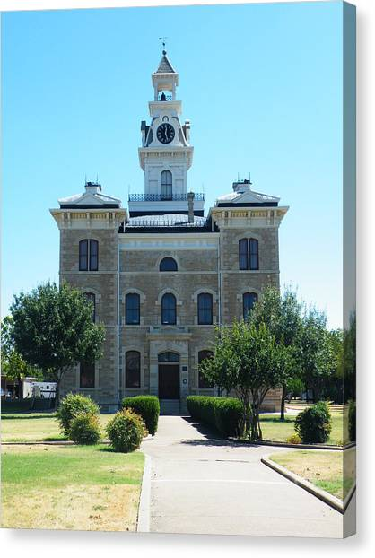Shackelford County Courthouse Canvas Print