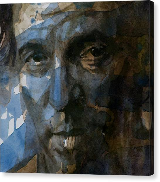Bruce Springsteen Canvas Print - Shackled And Drawn by Paul Lovering