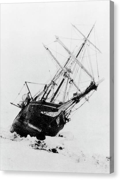 Canvas Print - Shackleton's Ship Trapped In Antarctic Ice by Science Photo Library
