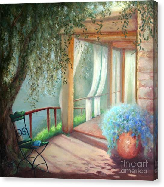 Shade Of The Olive Tree Canvas Print