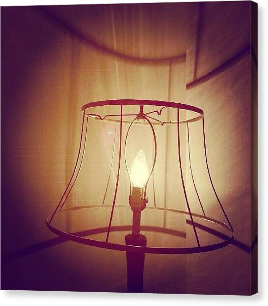 Light Canvas Print - Shadeless Lamp  by Jill Tuinier