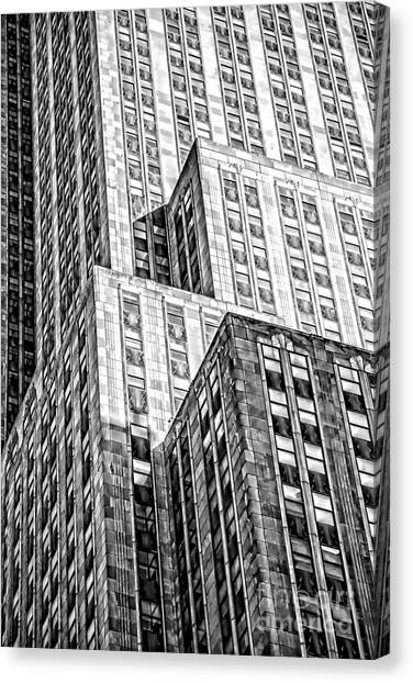 Empire State Building Canvas Print - Shades Of An Empire by Az Jackson